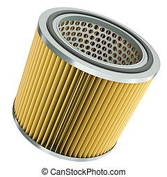 Air filter   - Car engine air filter. 3D render.