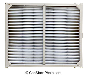 Clean air filter for central air and furnace cooling and heating system