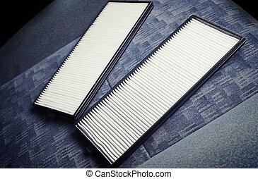 Air filter on the car seat