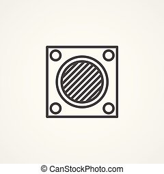 air filter vector icon sign symbol