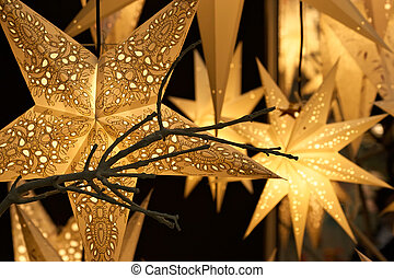 Air fixtures made of a paper parchment-celebratory ornament