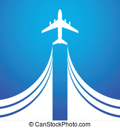 Air flight - Airplane symbol vector design