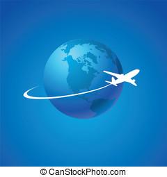 Air flight - Airplane symbol vector design