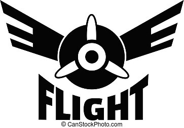 Air flight logo, simple style