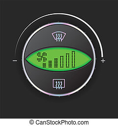 Air flow control with green display