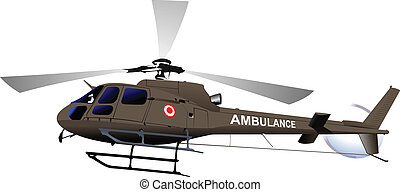 Air force. Ambulance helicopter. Ve