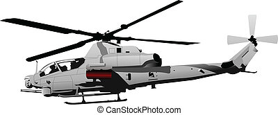 Air force. Combat helicopter. Vect