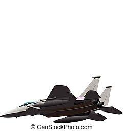 Air force. Combat. Vector illustra