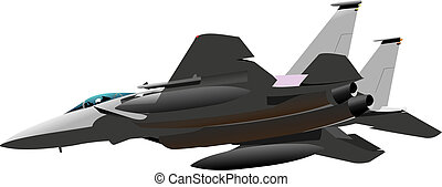 Air force. Combat. Vector illustration