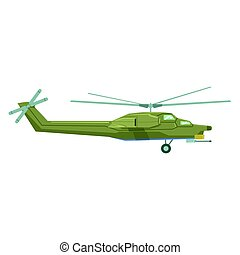 Air force helicopter flying. Military industry technic vector Illustration