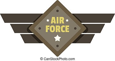 Air force icon logo, flat style
