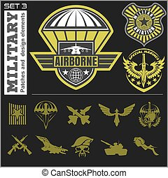 Air Force military emblem set vector design template. Vector...