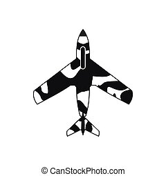 Air force plane icon, simple style