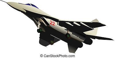 Air force team. Vector illustration