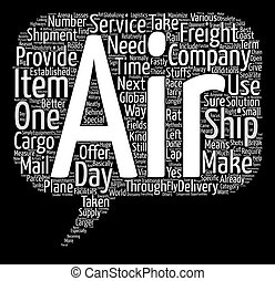 air freight company text background word cloud concept