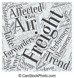 air freight forwarders Word Cloud Concept