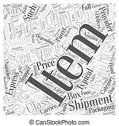 air freight service Word Cloud Concept