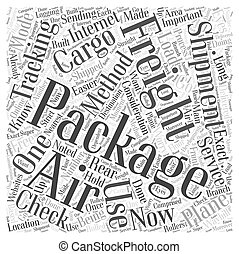 air freight tracking Word Cloud Concept