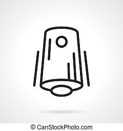 Air freshener black line vector icon