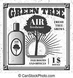 Air freshener poster design