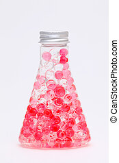 air freshener in plastic container on white background
