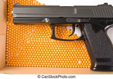 Air gun and pellets