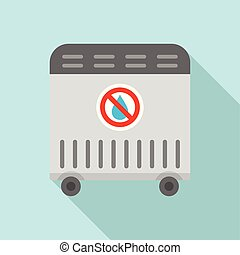 Air heater icon, flat style