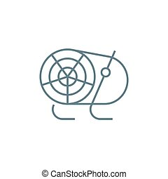 Air heater linear icon concept. Air heater line vector sign, symbol, illustration.