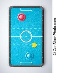 Air Hockey Table, eps 10