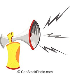 Air Horn Cartoon Isolated on White. Editable Vector Image
