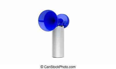 Air horn, spin 90 degrees and zoom to the horn