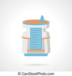 Air humidifier flat color vector icon