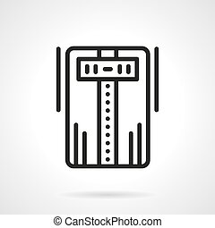 Air ionizer black line vector icon - Abstract sign of device...