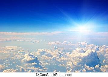 air, levers de soleil, vue