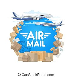 Air mail and shipping, parcels and letters
