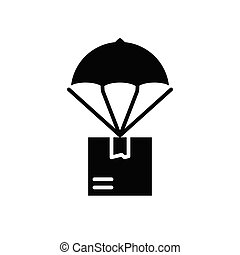 Air mail black icon concept. Air mail flat vector symbol, sign, illustration.