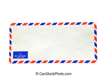air mail envelope isolated on white background