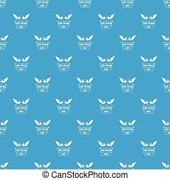 Air mail pattern vector seamless blue