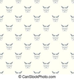 Air mail pattern vector seamless