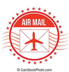 Air Mail stamp illustration design