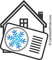 air, maison, refroidissement, conditionnement