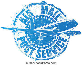 Air mall - vector image of a stamp of post service