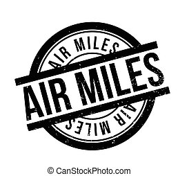Air Miles rubber stamp. Grunge design with dust scratches....
