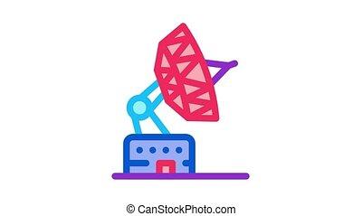 air navigation radar Icon Animation. color air navigation radar animated icon on white background