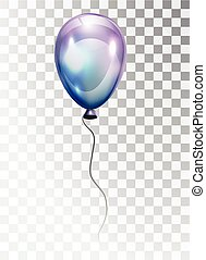 Air pearl ball with glare isolated on a transparent background.
