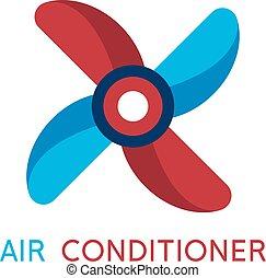 air pinwheel abstract icon vector design template