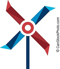 air pinwheel abstract icon vector design template
