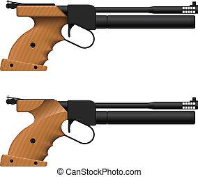 Air Pistol - Layered vector illustration of Air Pistol.