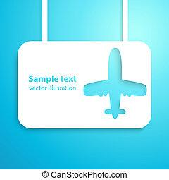 Air plane applique background. Vector illustration. Aircraft.