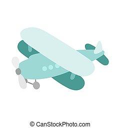 Air plane cartoon toy vector illustration